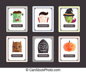 haloween, karte