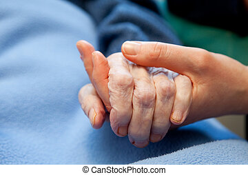 hand, altes , altenpflege