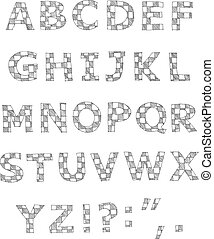 Hand geschriebenes Alphabet