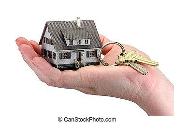 Hand halten Hausschlüssel
