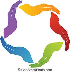 Hands Gewerkschaftsteamwork Logo