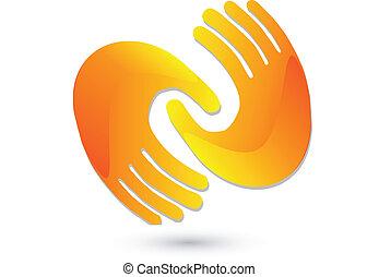 Handshaking Icon Logo.