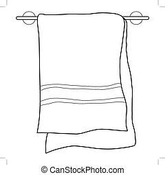 Handtuch.