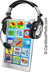 Handy-Chat-Unterstützungskonzept