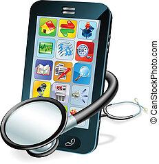 Handy-Gesundheitscheck-Konzept