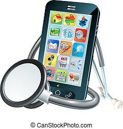 Handy-Gesundheitskonzept.