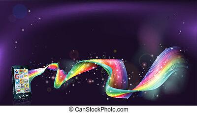 Handy Regenbogen Hintergrund.
