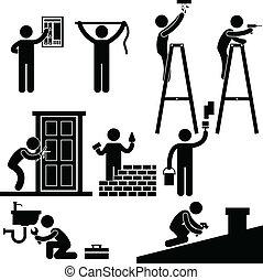 Handyman repariert Reparatursymbol