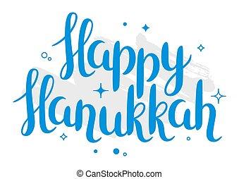 Happy Hanukkah Feiertagskarte mit Schreiben.