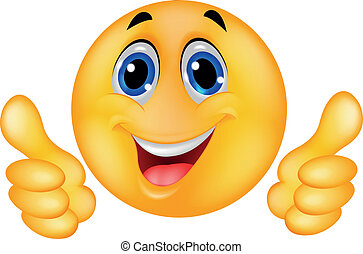 Happy Smiley Emoticon-Gesicht.