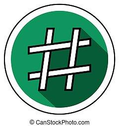 Hashtag Icon flachen Stil.
