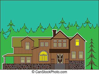 Haus im Wald.