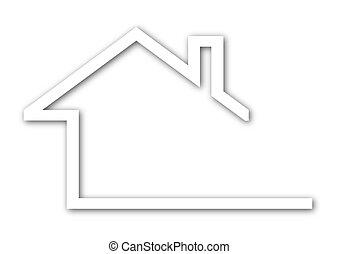Haus mit einem Gabeldach.
