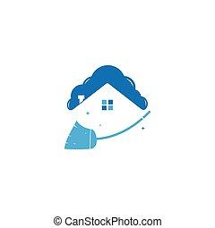 haus, reiniger, logo