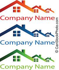 Hausdach-Logo für Immobilien