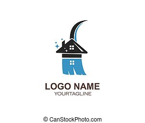 Hausreiniger Logo-Vektor.