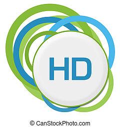 HD zufällige grüne Ringe.