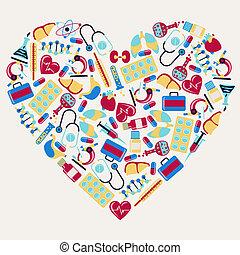 heart., heiligenbilder, medizin, form, gesundheitspflege