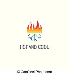 heiß, kalte , logo