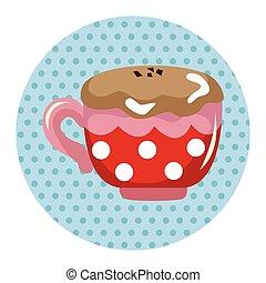 Heiße Kaffeegetränke Themenelemente.