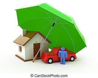 Heim, Leben, Autoversicherung