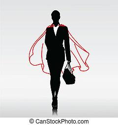Heldin der Geschäftsfrau