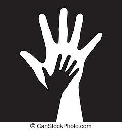 Helfende Hände.