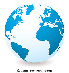 Hellblauer Globus