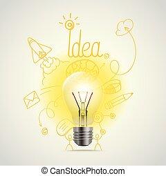 Helle Lampenvektorgrafik. Idee