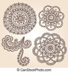 Henna Blumen Mandala Vektor-Designs.