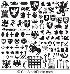 Heraldische Symbole und Elemente