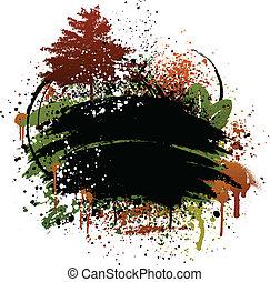 herbst, grunge, design