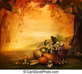 Herbstdesign - Saisonfrucht