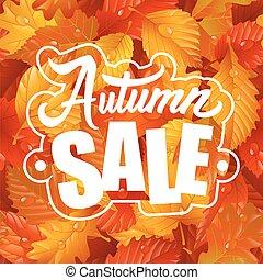 Herbstverkauf Briefing und Blatt nahtlose Muster