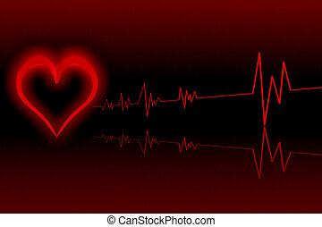 herz, abbildung, kardiologie