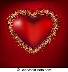 Herz abreißen mit EKG. EPS 8