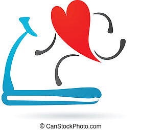 Herz auf einem Laufband