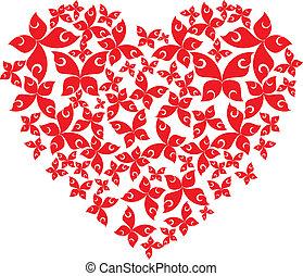 Herz aus fliegenden Schmetterlingen