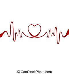 Herz aus rotem Band.
