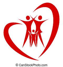 Herz-Familienvektor
