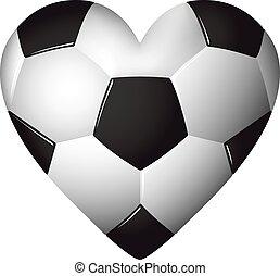 Herz geformter Fußball - Fußball - Ball Illustration.