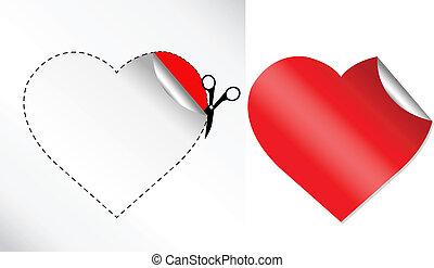 Herz in Form von Aufkleber