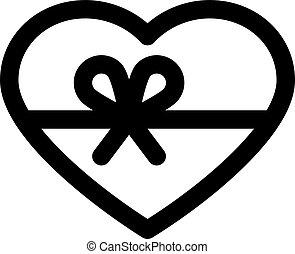Herz mit Band.