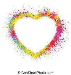 Herz mit grauem Hintergrund. EPS 8