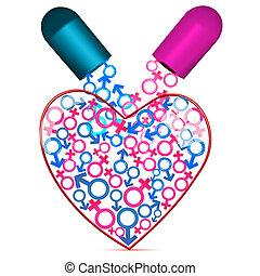 Herz mit Kapasule