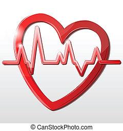 Herz mit Kardiograph