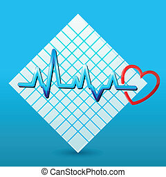 Herz mit Kardiologie auf dem Papier