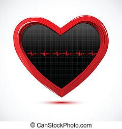Herz mit Kardiologie