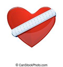 Herz mit Maßband