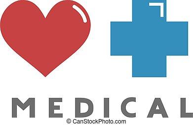 herz, symbol, medizin